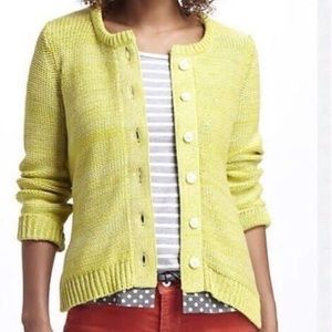Field Flower Knit Cardigan with Polka Dots